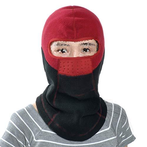 QIYINGYING Ohrenschützer hat Winter Outdoor-Skiski Winddicht maskierte kalte Maske verdickte warme Rad-Set-Kopf Fang Samt Hut (Kalten Kopf Maske)