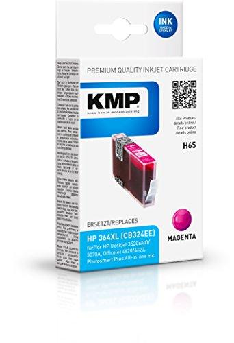 Preisvergleich Produktbild KMP Tintenkartusche für HP Photosmart C5380/C6380, H65, magenta