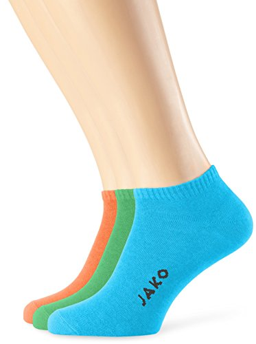 Jako Füsslinge 3er Pack Mehrfarbig (Orange/Soft Green/Blau)