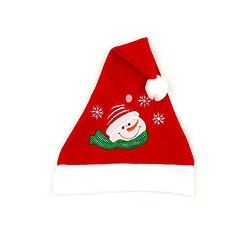 Weihnachtsmützen Weihnachtsfeier Hut Santa Red Cap für Santa Claus Kostüm Weihnachtsmann Mütze Weihnacht Nikolaus Für Kinder Erwachsene Upxiang (A) (Hut Von Santa Claus)