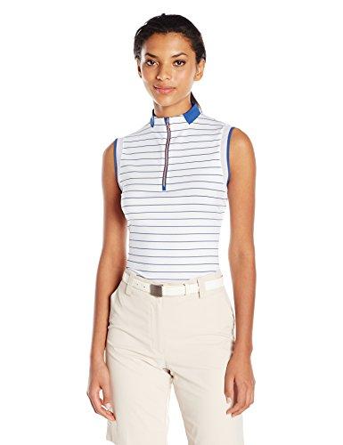 Cutter & Buck Damen Calipso Mock Active Shirt, feuchtigkeitsableitend, UPF 50+, ärmellos - Mehrfarbig - X-Klein (Tee Dri-fit-sleeveless)