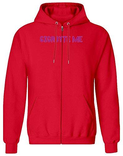 Gigabyte Me Zipper Hoodie for Men - 100% Soft Cotton - High Quality DTG Printing - Custom Printed Mens Clothing