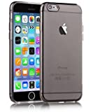 Coque iPhone 6, SHOP4PHONE® Coque iPhone 6 / 6s en Silicone Gel TPU Housse Etui protection Noir + 1 Film protecteur Offert