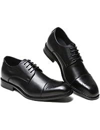 Llanura De Cordones Merryhe Cuero Hombre Con Tacón Para Zapato Zapatos Ocultos Real Oxford Xq4wP