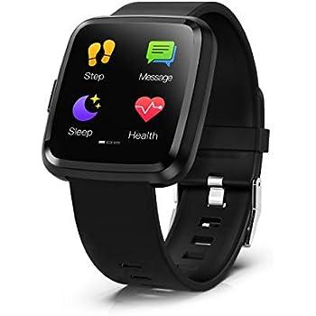 Smartwatch, Hommie S2 Reloj Inteligente con Pantalla Táctil Completa, Pulsera Actividad Inteligente ImpermeableIP67 con 8 Modos Deportes, Pulsómetro, ...