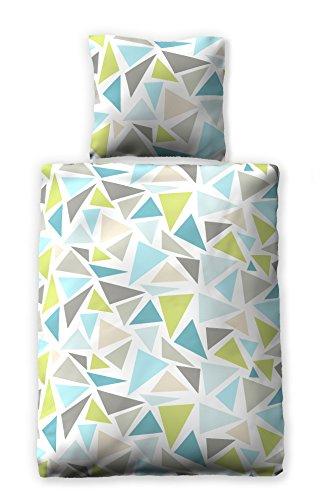 jilda-tex Seersucker Bettwäsche Colored Shards 135x200 cm 100{6fc0c64e9930cef48baa5a62de8f9043bb18724845b1944ae7bad81ef27e2e0d} Baumwolle Sommerbettwäsche
