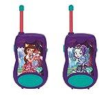 Lexibook Talkies-Walkies Mattel Enchantimals Felicity Renard & Flick™, 100m de portée, design ergonomique, clips pour l'attache à la ceinture, Vert/Violet, TW12EC