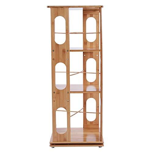 Neufday Organizzatore Rotante Girevole 360   , 3 Strati di scaffalature per libreria Semplice con Rotazione a 360 Gradi The Turntower Girevole