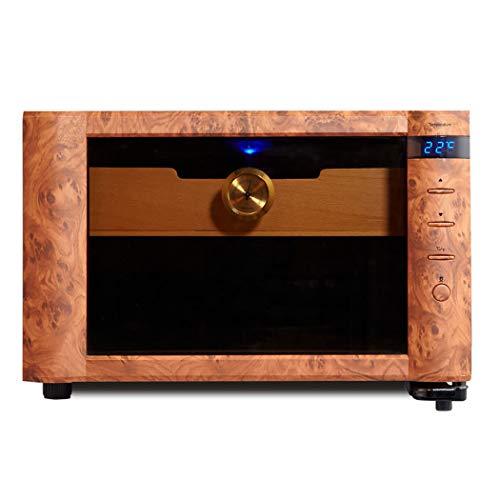 MOSMAT Elektrische Zigarren Humidor Schrank Weinkeller Energiesparende Stummschaltung Intelligente Temperaturregelung Braunglastür -26 Liter Mit Hygrometer Eingebautes Waschbecken