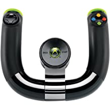 Microsoft Xbox 360 Wireless Speed Wheel - Volante/mando (Volante, Xbox, D-pad, Inalámbrico, Negro)