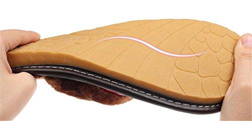Auspicious beginning Pantofola per interni in morbida pelle di vacchetta pantofola in pelle per adulto-adulto Rosa rossa