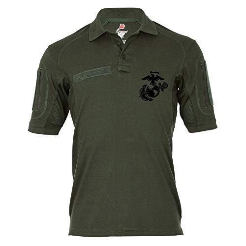 Tactical Poloshirt Alfa USMC United States Marine Corps US Marines #19476, Größe:XL, Farbe:Oliv -