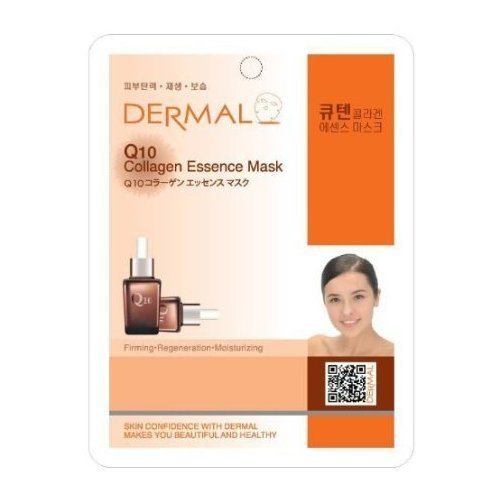 Dermal Korea Collagen Essence Full Face Facial Mask Sheet – Q 10 (10 pezzi)