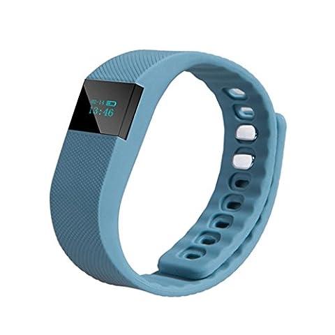 Activity Tracker, iHee TW64 3rd G Calendar Call remind Step Counter Sport Bluetooth Wristwatch Bracelet Watch (Deep