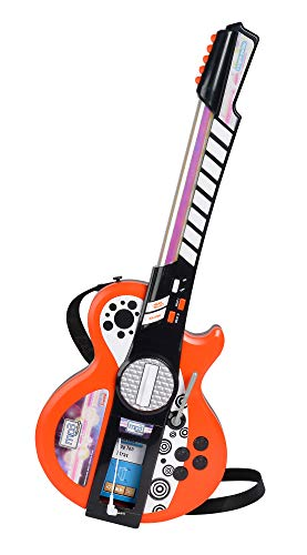 Simba 106838628 - My Music World Light Guitar mit MP3 Funktion (Musik Vorinstallierte Mit Mp3-player)