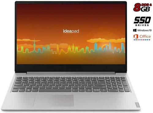 Notebook Lenovo Silver 8 Gb DDR4, SSD da 256Gb cpu Amd A4 fino a 2,6GHz in Burst Mode, Display Hd da 15,6 pollici, web cam, 3usb, hdmi, bt, Win10 Pro, Suite Office, Pronto All'uso, garanzia Italia