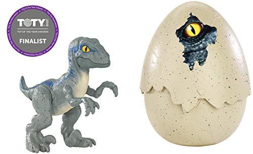 Jurassic World Dino recién nacido Velociraptor Blue, dinosaurio de juguete (Mattel FMB92)