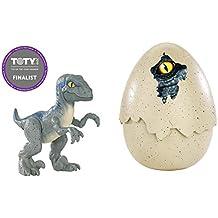 Jurassic World Dino recién nacido Velociraptor Blue, dinosaurio de juguete (Mattel ...