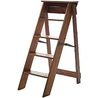 Color : Black , Size : 34*41*62cm Leiterhocker Massivholz-Multifunktions-Haushaltshocker Treppenloft dreistufiger Leiter Hocker Klappleiter Haushaltsleiter Verdickungsleiter Stuhl tragend 150kg