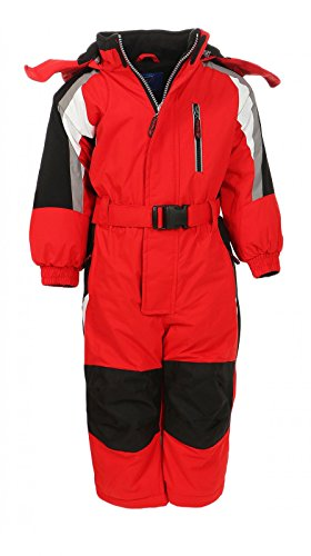 PM Kinder Outdoor Skianzug Snowboard Unisex Jungen Mädchen Funktionsanzug Hardshell Schneeanzug Winter LB1217-Rot-116