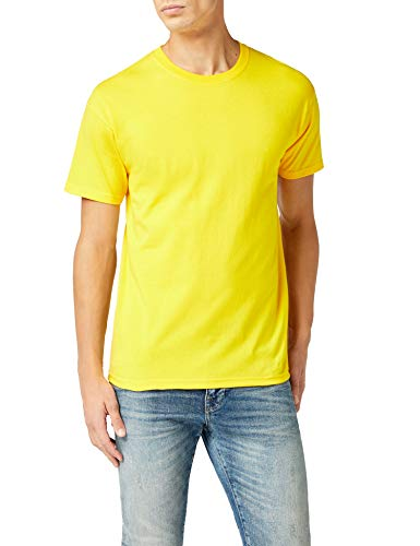 Fruit of the Loom Herren Premium Tee Single T-Shirt, Gelb (Sunflower Yellow), (Herstellergröße: Medium) -