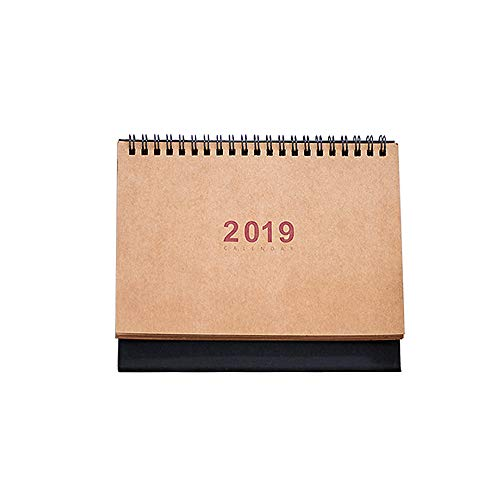 Terminplaner 2018-2019 Stehtisch Schreibtisch Büro Tisch Kalender Planer – to-Do-Liste täglich 7.4 x 6.1 inch braun