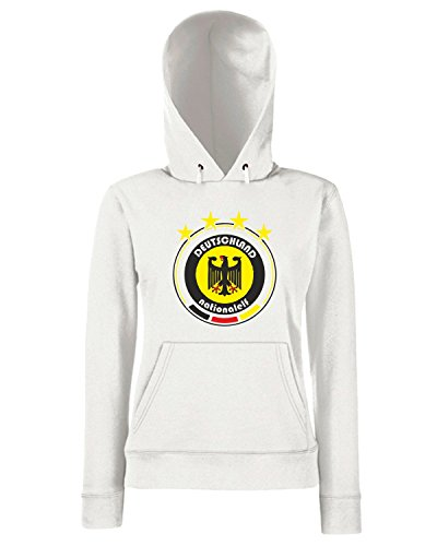 T-Shirtshock - Sweats a capuche Femme WC0672 World Cup Football - Team Deutschland Blanc