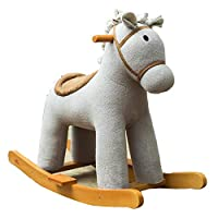 YUMEIGE Rocking Horses Rocking Horse with 47 Music,boy&girl Rocking Animal 29.9 × 12.5 × 24.8inch,wooden Rocking Horse 1-6 Year Old Kids Toys 、Birthday Gift