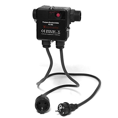Rotfuchs® PC10.C mit Kabel Druckschalter Pumpensteuerung Pumpenschalter