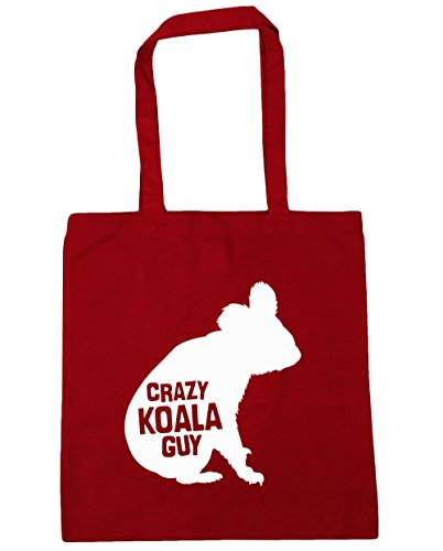 hippowarehouse-crazy-koala-guy-tote-shopping-gym-beach-bag-42cm-x38cm-10-litres