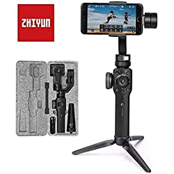 ZHIYUN Smooth 4 Smartphone Gimbal Stabilisateur 3 Axes Handheld Stabilisateur Jusqu'à 210g Compatible avec IPhone X/8/7/6/SE Plus, Samsung Galaxy, Huawei, GoPro Hero 6/5/4/3 Nouveau Smooth 3/Q