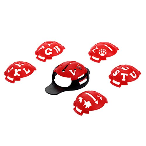 1 Set 7Pcs Golfball Line Marker Schablone Zeichnung Alignment Tool - Red