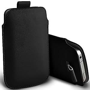 XL (Noir) Samsung Galaxy Xcover 3/SM-G388F Premium protection en cuir PU Tirez Housse Tab Pouch Pocket Cover Exclusive Accessoires Elite