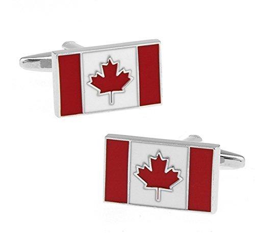 Ashton and Finch Kanadische Flagge Manschettenknöpfe in Einer luxuriösen Präsentationsbox. Neuheit. Kanada. Sport Thema Schmuck