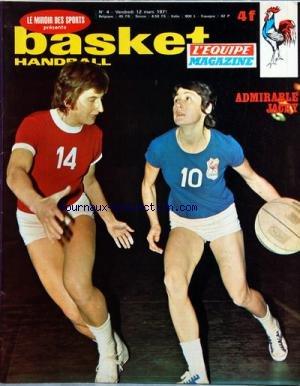 BASKET HANDBALL L'EQUIPE [No 4] du 12/03/1971 - ADMIRABLE JACKY