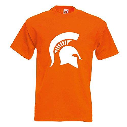 KIWISTAR - Spartaner Profil T-Shirt in 15 verschiedenen Farben - Herren Funshirt bedruckt Design Sprüche Spruch Motive Oberteil Baumwolle Print Größe S M L XL XXL Orange