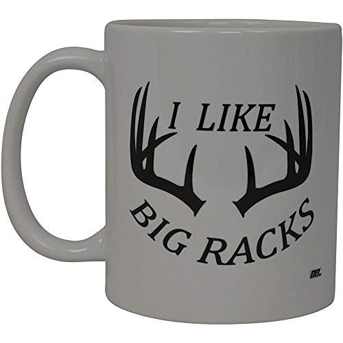 Lustige Kaffeetasse Jagd Ich mag große Gestelle Buck Neuheit Cup Geschenk für Freund Jagd