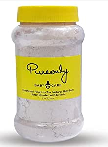 PureOnly Traditional and Homemade Head-to-Toe Herbal Baby Bath Ubtan Powder (0-5 Years) (200 Grams)