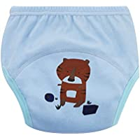 Newin Star Braga de aprendizaje para bebés,Pañales de tela Calzones de entrenamiento para bebés niño de algodón cambiante con dibujo de tigre