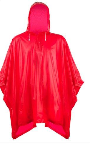 Splashmacs Plastic Poncho Rosso - Rosso