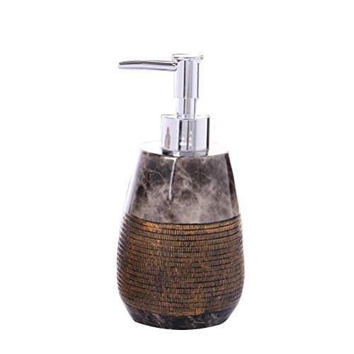 Screenes 260 Ml Arbeitsplatte Seifenspender Harz Pumpflasche Leere Container Lotionspender Für Einfacher Stil Shampoo Duschgel (Kaffee) (Color : Colour, Size : Size) (Antike Kaffee-spender)