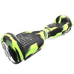"""Self Balance Wheel Hoverboard Scooter Silikon Schutzhülle für 6,5"""" Schützen Sie Ihren Roller Grün"""