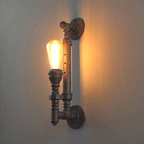 Tubes À Eau Lampe Murale À Tête Unique Lampe Murale À Rétro Lampe Lampe Murale Rétro Lampe Murale Lampe Murale Créative Style Industriel Lumière Intérieure E27 Source Lumineuse