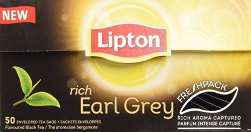 Lipton Thé Rich Earl Grey 50 Sachets 80g