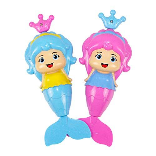 Toyvian 2 Stücke meerjungfrau Badewannen Spielzeug für Kinder (zufällige Farbe)