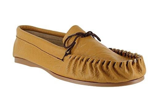 En cuir pour homme main Casual Moccs Chaussettes-Chaussons Chaussures brun clair Tailles :  6, 7, 8, 9, 10 11 12 13 Marron - Brun