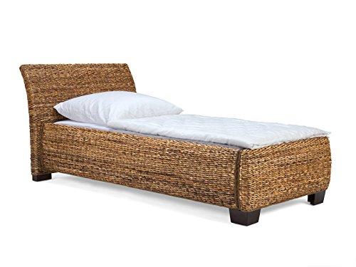 massivum Gäste-Bett Barika 90x200 cm Liegefläche aus Bananenblatt braun Komfort-Höhe
