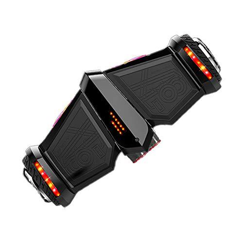 JHKGY Hoverboard A Forma di Aereo D'imitazione, Bluetooth E LED, Hoverboard Robusto per Tutti I Terreni,Scooter Elettrico Bilanciato A Due Ruote da 8 Pollici per Regalo per Bambini Adulti,A2