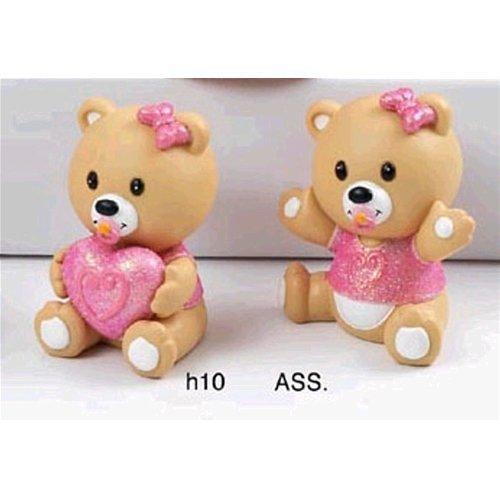 Bomboniere disney resina orso orsacchiotto 10 cm 2 posizioni rosa