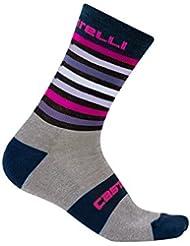 Calcetines Castelli–gregge 15Sock–Bicicleta Invierno Calcetines–Calcetines térmicos, Grey - Pink